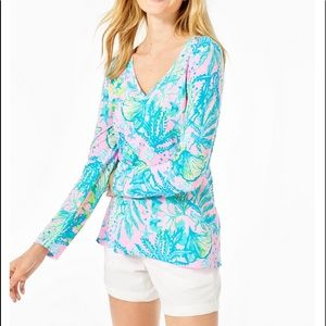 Lilly Pulitzer Etta long sleeve in Hip Nautic S